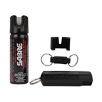 Sabre Pepper Spray Home and Away Kit, 2.4oz Home Spray and .54 Personal Spray, Black