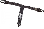 Cetacea T-Vest Mount Single Point Sling With Quick-Disconnect, Black
