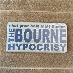 Bourne Hypocrisy Patch, Velcro Backed