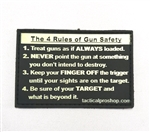 Tactical Pro Shop Custom Patch, Gun Safety, Yellow on Black