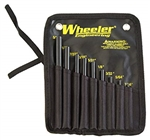 Wheeler 9 Piece Roll Pin Punch Set