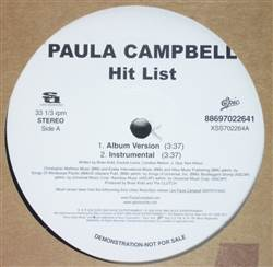 Paula Campbell Hit List / Upkeep
