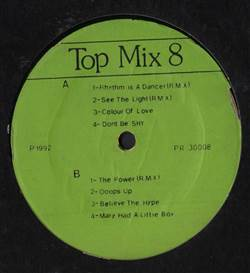 Snap! Top Mix 8 - The Best Of Snap!