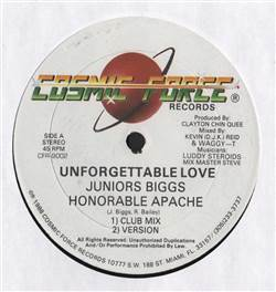 Juniors Biggs / Honorable Apache / Singer Mikey / Fleshy Ranks Unforgettable Love / Come To Me
