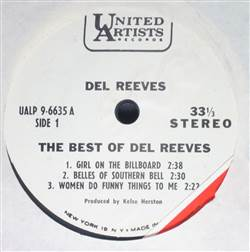 Del Reeves The Best Of Del Reeves