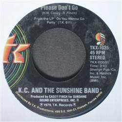 K.C. And The Sunshine Band Please Don't Go