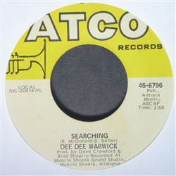 Dee Dee Warwick Searching / Cold Night In Georgia