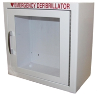 AED Cabinets - Small Wall Mount AED cabinet. Choose your AED cabinet with or without an alarm and strobe. AED wall mount cabinets at the lowest prices. 145SM