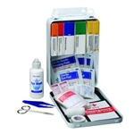 First Aid Only - Vehicle First Aid Kit in metal box, 221-U First Aid Kit for commercial trucks and service vehicles. Features a rubber gasket in the metal vehicle first aid kit.