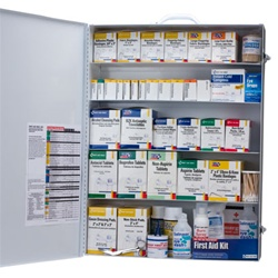 5 Shelf First Aid Kit- First Aid Only 249-O Industrial First Aid cabinet is a great option for a business or workplace that needs first aid kits and first aid supplies. Our Metal first aid cabinets are easily mounted on the wall for easy access. 249-O