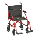 Nova Lightweight Transport Wheelchair, 379. Transport chairs are light weight small portable wheelchairs that are easy to load, compact and are the lightest weight wheelchairs. at only 19 pounds the Nova Transport wheel chair is a great option chair.