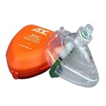 CPR Pocket Mask in Hard Case with Gloves - ADC ADSafe CPR Barrier Mask for use on adults and children. 4053