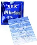 CPR Barrier Face Shield in foil pack for mouth to mouth resuscitation. ADC CPR Face Shield in foil pack 4055