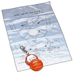 CPR Barrier - CPR Rescue Face shield on key chain for use while performing mouth to mouth resuscitation. CPR Barriers. CPR Pocket Shield. 4055OR