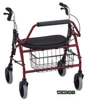 Nova Mighty Mack HD Rollator Walker, 4216RD 4216BL, Heavy Duty Lightweight Rollator Walker from Nova Ortho-Med. The Bariatric Mighty Mack Rollator Walker is rated for 600 pounds, has a seat, 4 wheels and brakes. The Mighty Mac is available in Red or Blue.