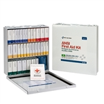 ANSI Class B First Aid Kit, Metal, Weatherproof, 54 Unit