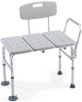 Bath tub transfer bench with back from Invacare 98071