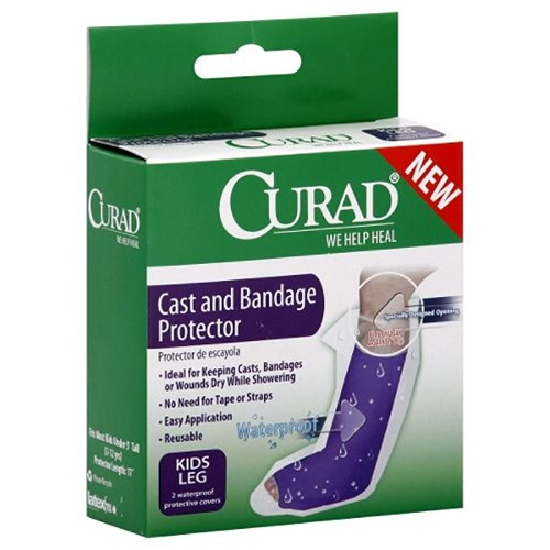 Exceptional Curad Leg Cast And Bandage Cover Protector   Allows The User To Shower  While In A