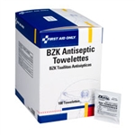 First Aid Only BZK Antiseptic First Aid Wipes, Alcohol Free J308