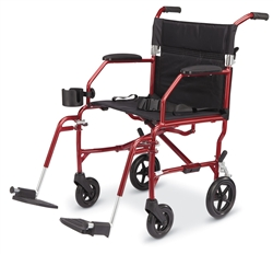 Transport Chairs - Medline Freedom Transport Wheelchair. MDS808200SLRR, MDS808200SLBR