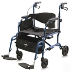 Medline Translator Transport Wheelchair and Walker, MDS808200TR