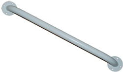 "Grab Bars 24"" 1-1/4"" diameter steel grab bars are easy to grip and help reduce the risk of accidents. Medline Grab Bars can be used horizontally or vertically. Grab Bars are packaged individually, complete with mounting hardware. MDS86024"