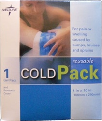 Reusable Cold Ice Pack - Reusable gel cold pack. A great ice pack for home or office. MED960