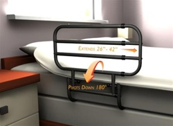 The Stander 8000 EZ Adjustable Bed Rail - The only bed rail that adjusts in length after installation. The Stander Easy adjust bed rail works well as a side rail to keep you from falling out of bed, as well as a support bar for getting in and out of bed.