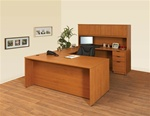 NEW Laminate Executive U-Shape Desk w/ Hutch