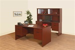 NEW Laminate Double ped desk B/FL , B/FL
