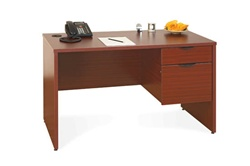 NEW Laminate Single ped desk B/FL