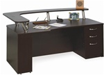 NEW Laminate Bow Top Extended Corner Reception Desk