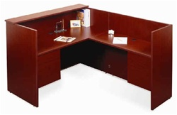 NEW Laminate Reception Desk w/ Return