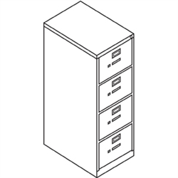 4 Drawer Vertical file cabinets 