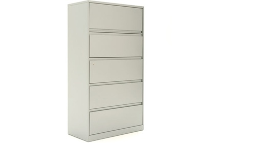 Etonnant Steelcase 900 Series 5 Drawer Lateral File Cabinet