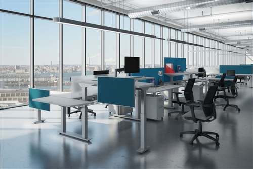 Height Adjustable Benching Desk By Ais Office Furniture