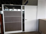 "New AIS Divi 82""H Office Panels and Door 8' x 8' with Wood and Fabric insert panels and Glass"