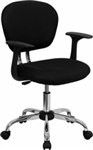 NEW Mid-Back Mesh Task Chair with Arms and Chrome Base
