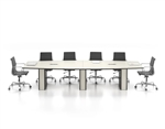 "New Candex 144"" Boat Shape Conference Table"