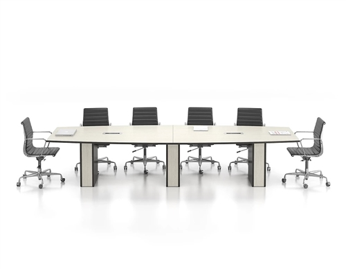 New Candex Boat Shape Conference Table With Electric - 144 conference table