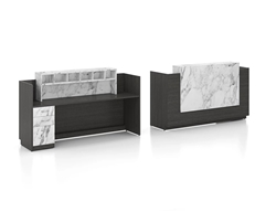 New Candex 6' Reception desk with Marble Look