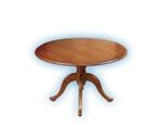 Carmel Traditional Wood Round Queen Anne Table