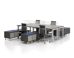 New Candex Benching System with Credenza