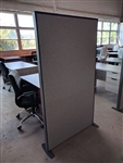 NEW Free standing Fabric panel divider.