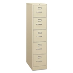 HON 5 Drawer Letter Size Vertical File Cabinet