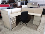 "Knoll Dividend workstations 6' x 6'  42""h"