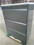 KNOLL 3 Drawer Lateral File Cabinet Charcoal Grey