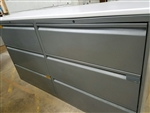 KNOLL 3 Drawer Double Lateral File Cabinet Charcoal Grey