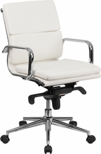 NEW Mid- Back Pillow Chrome Conference Chair