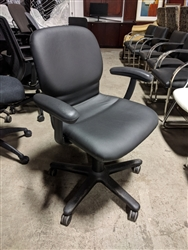 Steelcase Sensor task chairs refurbished with New Black Fabric or Vinyl